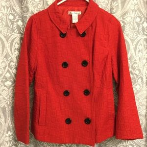 Very cute size M red jacket by Susan Bristol